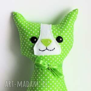 ręcznie robione zabawki kot kotek miauqn - teo