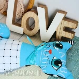 białe zabawki zabawka kotek torebkowy - turkusek - 25