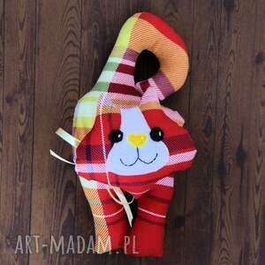 kot zabawki czerwone kotek - zawieszka - leoś