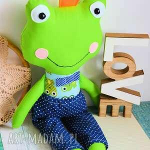 żabka zabawki zielone królewicz zaczarowany w żabkę