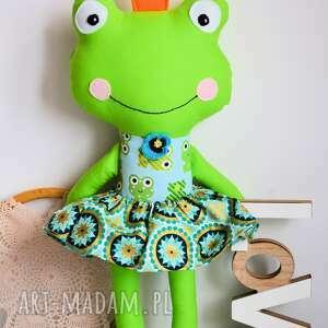 turkusowe zabawki królewna zaczarowana w żabk&#281