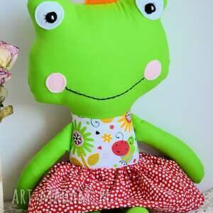 żabka zabawki zielone królewna zaczarowana w żabkę - ula