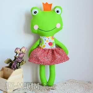 białe zabawki księżniczka królewna zaczarowana w żabkę - ula