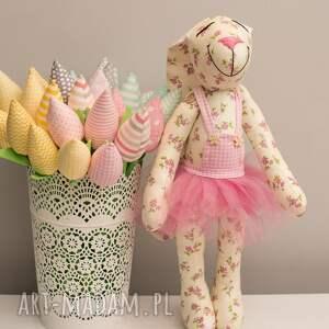 różowe zabawki personalizacja królik z imieniem