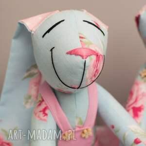 turkusowe zabawki królik personalizacja prezent