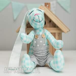 niebieskie zabawki imię królik personalizacja chrzest