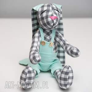 królik zabawki turkusowe personalizacja prezent