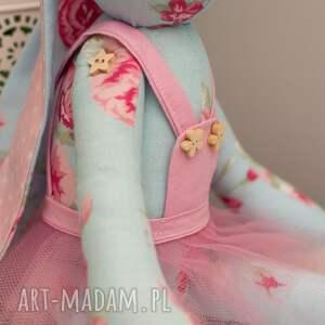 zabawki personalizacja królik uszyty z tkaniny w 100% bawełnianej