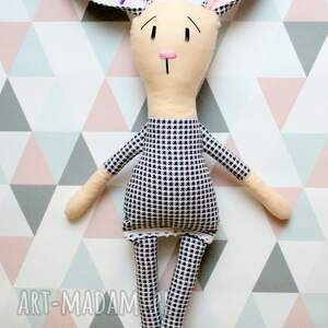 handmade zabawki przytulanka królik z imieniem