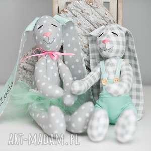 intrygujące zabawki królik przytulanka z imieniem