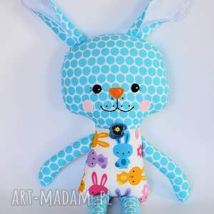 białe zabawki dziewczynka królik tuptuś - marzenka