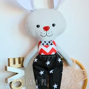 czerwone zabawki zabawka królik tuptuś - emil