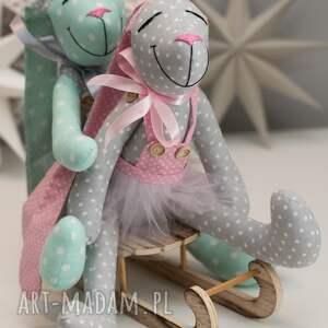 hand made zabawki królik z imeiniem personalizacja