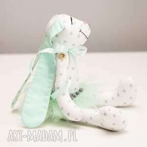 hand made zabawki królik z imieniem chrzest