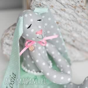 oryginalne zabawki królik uszyty z tkaniny w 100% bawełnianej