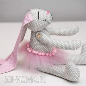 białe zabawki imię królik z imieniem personalizacja