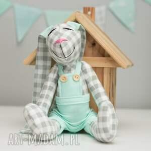 białe zabawki personalizacja królik z imieniem