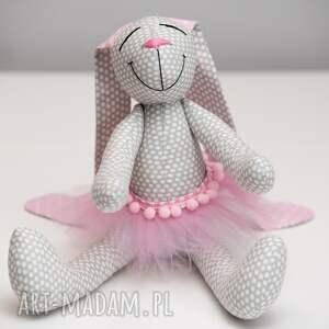 królik zabawki różowe z imieniem personalizacja