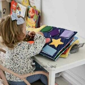 niepowtarzalne zabawki książeczka sensoryczna dla dziecka
