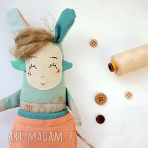 hand made zabawki miękka przytulanka lalka handmade z tkaniny - jojo