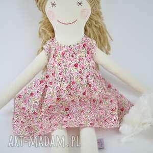 niepowtarzalne zabawki przytulanka lalka szmaciana, sukienka w