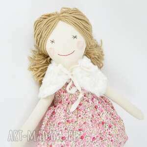niepowtarzalne zabawki lalka szmaciana, sukienka w