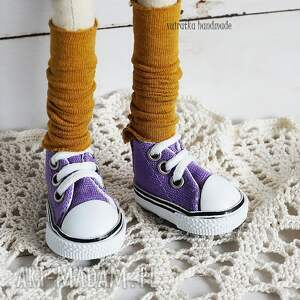 handmade zabawki zabawka lalka w fioletach
