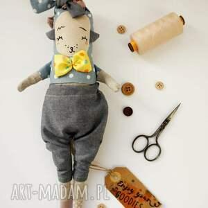 zabawki lalka artystyczna z tkaniny - handmade - nutria