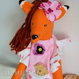 ręcznie robione zabawki lisek - słodka dama - michalina
