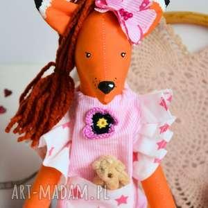 różowe zabawki dziewczynka lisek - słodka dama - michalina