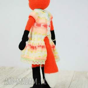maskotka zabawki lisek szydełkowa przytulanka