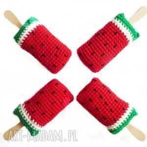 lody zabawki czerwone arbuzowe na patyku x4