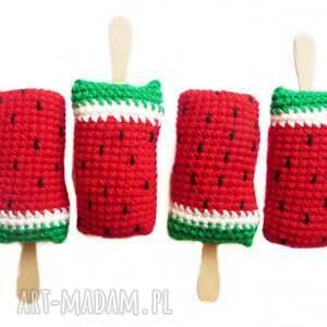 nietuzinkowe zabawki lody arbuzowe na patyku x4