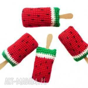 nietuzinkowe zabawki arbuzowe lody na patyku x4