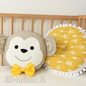 hand-made zabawki małpka poduszka