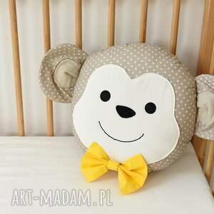 białe zabawki małpa małpka poduszka