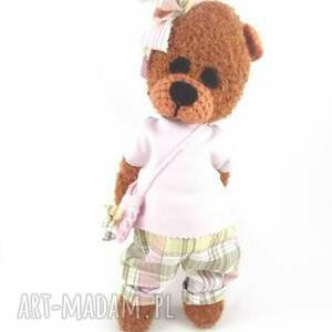 dla dziewczynki zabawki marcelina - szydełkowa misia