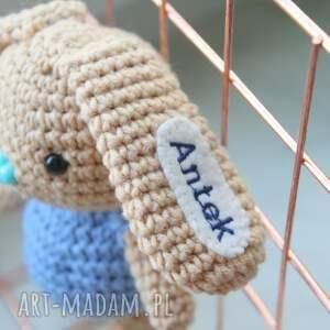 handmade zabawki personalizowane maskotka szydełkowa z imieniem
