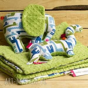 minky zabawki zielone mięciutki dinozaur - bawełna
