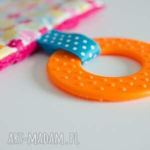 ręcznie robione zabawki sensorek minky-sensorek-gryzak - wesoła