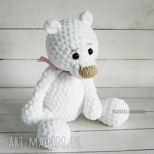 maskotka zabawki miś amigurumi biały, 307