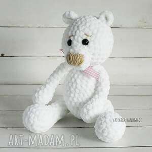 gustowne zabawki maskotka miś amigurumi biały, 307
