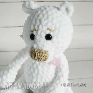 zabawki maskotka miś amigurumi biały, 307