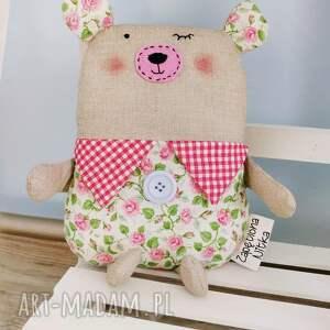 maskotka zabawki różowe misio do przytulania