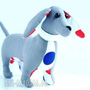 niepowtarzalne zabawki pies jamnik