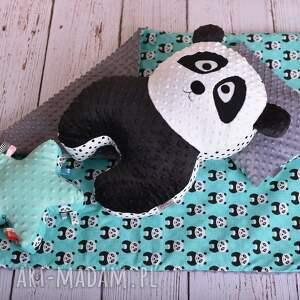 panda poduszka zabawki dziecięca jest wykonana