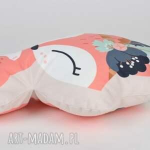 ręczne wykonanie zabawki przytulanka poduszka - lis