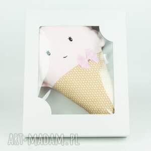 nietuzinkowe zabawki poduszka z serii lody - truskawkowa