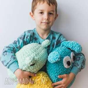 unikalne zabawki szydełko przytulak żaba - maskotka ręcznie
