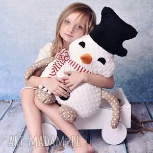 AtelierMalegoDesignu pomysł na prezent pod choinkęPrzytulanka dziecięca bałwan w szaliku - coś na przytulanka